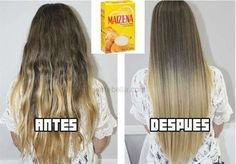 Mask cornstarch to repair hair Messy Hairstyles, Pretty Hairstyles, Curly Hair Styles, Natural Hair Styles, Hair Repair, Tips Belleza, Dream Hair, Hair Looks, Hair Inspo