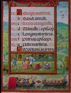 """Iluminura do livro"""" Horas de D. Manuel I - Museu Nacional de Arte Antiga"""