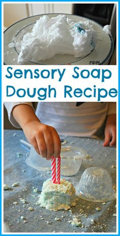 Sensory Soap Dough Recipe - Its simple to create this fun soap dough and kids will have a BLAST playing with it! #kids #sensory