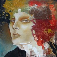 Modern abstract portraits of woman by Pascale Pratte - ego-alterego.com