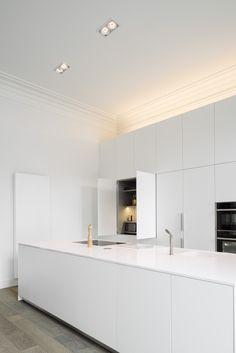Kitchen Lighting Design, Design Your Kitchen, Kitchen Cabinet Remodel, Diy Kitchen Cabinets, Minimalist Home Interior, Minimalist Kitchen, Hgtv Kitchens, Coffee Bars In Kitchen, Interior Minimalista