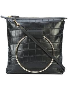 194d29d3cd Little Liffner Reptile Skin Effect Large Ring Detail Shoulder Bag - Farfetch
