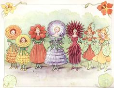 There are images from childhood that inspire you and stay with you. Swedish illustrator Elsa Beskow is the artist behind some of the images that still manage to bring back some of that childhood wo. Elsa Beskow, Fairy Land, Fairy Tales, Arte Elemental, Flower Festival, Fairytale Art, Thinking Day, Arte Pop, Flower Fairies