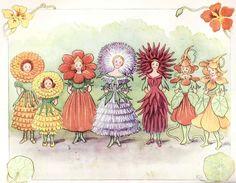 Elsa Beskow - The flower's festival from Christopher's Harvest Time, 1914 - Sweden