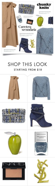"""""""Get Cozy: Chunky Knits"""" by marina-volaric on Polyvore featuring TIBI, Carven, Bela, Lorenza Gandaglia, Schutz, NARS Cosmetics, Yves Saint Laurent and chunkyknits"""