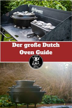 The great Dutch Oven Guide Grilling Recipes, Cooking Recipes, Grill Dessert, Bbq Places, Dutch Oven Camping, Grill Restaurant, Dutch Oven Recipes, Bushcraft Camping, Bbq Grill