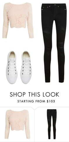 """Casual"" by jenna19monzela ❤ liked on Polyvore featuring Coast, Yves Saint Laurent and Converse"