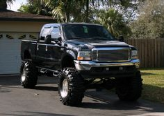 jacked up chevy trucks pictures Jacked Up Chevy, Ford Pickup Trucks, Lifted Ford Trucks, Chevy Trucks, Ford 4x4, Ford Bronco, Cool Trucks, Big Trucks, Gta