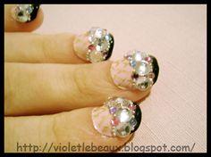 Hime gyaru style bling nail art