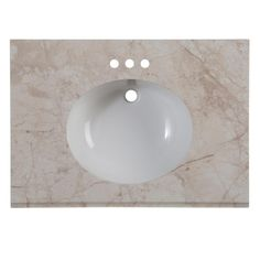Home Decorators Collection 31 in. Stone Effects Vanity Top in Dune with White Basin-SEO31-DN - The Home Depot