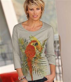 T-Shirt Mit Papagei-Motiv #atlasformen #atlasformende #atlasformendeutschland #meinung #winter #atlasforwomen