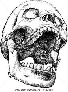 Resultado de imagem para screaming skull
