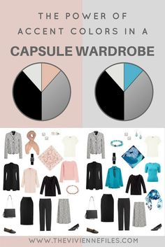 The Power of Accent Colors in the Capsule Wardrobe: Blush and Turquoise - The Vivienne Files The Power of Accent Colors in the Capsule Wardrobe: Turquoise & Blush with Grey, Black, and White The Capsule, Capsule Wardrobe Work, Travel Capsule, Capsule Outfits, Fashion Capsule, Travel Wardrobe, Wardrobe Basics, Wardrobe Closet, Work Wardrobe Essentials