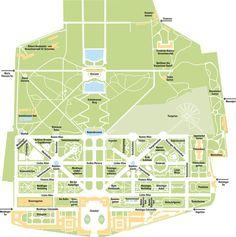 Übersichtsplan Schlosspark Schönbrunn - http://www.schoenbrunn.at/wissenswertes/der-schlosspark/rundgang-durch-den-park.html