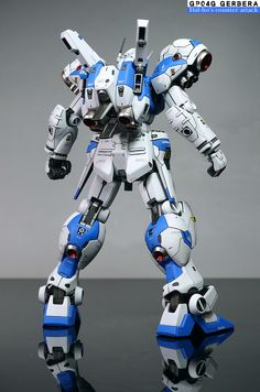 RE& Gundam Gerbera - Customized Build Modeled by do-yu Gerbera, Battle Robots, Japanese Robot, Gundam Custom Build, Man Of War, Frame Arms, Gunpla Custom, Gundam Art, Mecha Anime