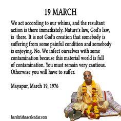 TO SUBSCRIBE: To get Srila Prabhupada's daily quotes subscribe and you will get daily quotes in your mail box :  http://harekrishnacalendar.com/subscribe/  Chant Hare Krishna And Be Happy