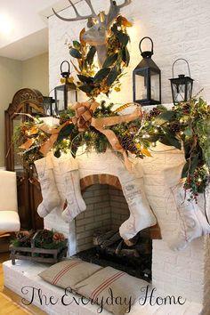 Mantel Christmas Decorations budget friendly christmas decor ideas | christmas trees