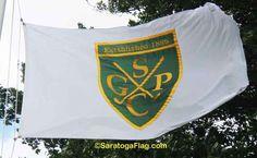 Saratoga Golf & Polo Club Official Flag.  Saratoga Springs, New York.  Made in USA.