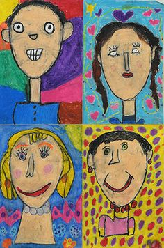In First Grade We Shine Class Art Projects, Kindergarten Art Projects, Kindergarten Self Portraits, Portraits For Kids, Self Portrait Art, First Grade Art, Ecole Art, Keith Haring, Art Classroom