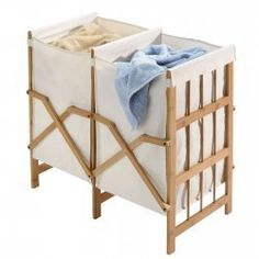 2-Compartment Bamboo Laundry Hamper by Richards $39.99