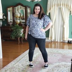 The LuLaRoe Olive-My Honest Review • Devin Zarda | At $34, I truly feel that this shirt is well worth the price. With all of the detail work that went into the sleeves, that alone raises the value in my opinion.