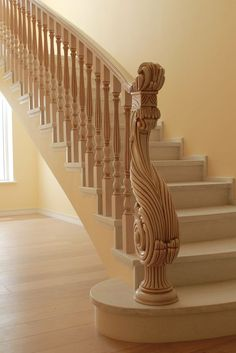 Inventive Staircase Design Tips for the Home – Voyage Afield Wooden Staircase Railing, Stair Railing Design, Interior Staircase, Banisters, Balustrades, Traditional Staircase, Modern Stairs, House Stairs, Door Design