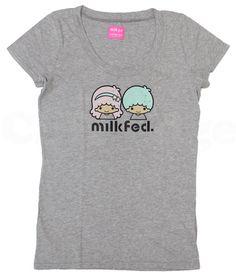 【2010】【Milkfed x LTS】Tee (¥8,500, Grey) ★Little Twin Stars★