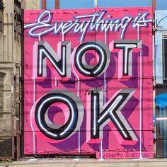 Politically & Socially Conscious NYC Street Art w/ Otto Schade & more art art graffiti art quotes Street Art Banksy, Murals Street Art, Street Art Quotes, Street Art News, Graffiti Murals, Mural Art, Street Artists, New York Street Art, Stencil Graffiti