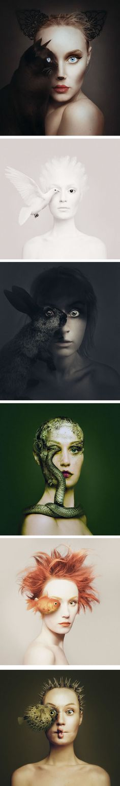 Artist Becomes One With Animals By Replacing Her Eye With Theirs (By Photographer Flóra Borsi) - 9GAG