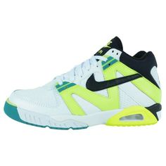 new concept aee8c a7c84 NIKE AIR TECH CHALLENGE III TENNIS SHOES WHITE BLACK VOLT EMERALD 749957  100   Kixify Marketplace