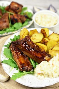 Soczyste żeberka pieczone wpiekarniku 6 Vegan Junk Food, Vegan Sushi, Vegan Bodybuilding, Vegan Baby, Vegan Smoothies, Polish Recipes, Vegan Sweets, Coleslaw, Food Cravings