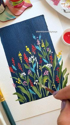 Art Painting Gallery, Diy Painting, Gouache Painting, Poster Color Painting, Poster Paint, Painting & Drawing, Small Canvas Art, Mini Canvas Art, Painting On Black Canvas