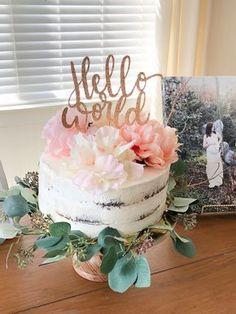 30 Gorgeous Baby Shower Cakes Ideas for Girls - babyideaz Pasteles Baby Shower Niña Flores, Tortas Baby Shower Niña, Otoño Baby Shower, Girl Shower Cake, Gateau Baby Shower, Shower Bebe, Baby Girl Shower Themes, Baby Shower Flowers, Floral Baby Shower