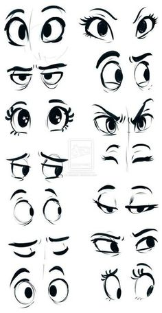 How to draw cartoon eyes? Yes, it is very easy to draw cartoon eyes. The eyes are among the most important features for any cartoon. Drawing Eyes, Drawing Sketches, Art Drawings, Pencil Drawings, Sketching, Cartoon Eyes Drawing, Cartoon Sketches, Eye Sketch, Drawing Cartoons
