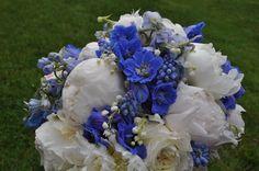 my wedding flowers, Newport wedding, peonies, bouquet, bride, white and blue