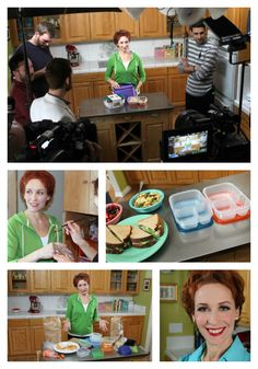 Promo video shoot for EasyLunchboxes with Kelly Lester Show And Tell, Board, Planks
