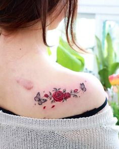 Delicate Tattoos For Women, Butterfly Tattoos For Women, Tattoos For Women Flowers, Beautiful Flower Tattoos, Dainty Tattoos, Pretty Tattoos, Mini Tattoos, Cute Tattoos, Body Art Tattoos
