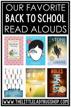 Are you looking for the best back to school novel read alouds? I've created a list of my favorite chapter books for upper elementary! Students in 3rd grade, 4th grade, and 5th grade will enjoy the characters, themes, and stories in each of these engaging books. They're the perfect addition to your classroom library or to use as a whole class read aloud. #thelittleladybugshop