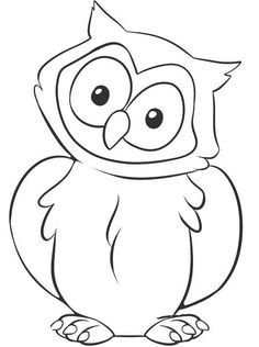 how to draw a owl step 6 - Cute Owl Printable Coloring Pages