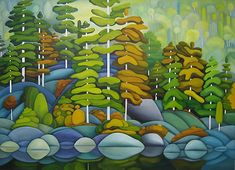 Deb Gibson, Near North Ontario, oil on canvas, Abstract Landscape, Landscape Paintings, Contemporary Landscape, Oil Paintings, Oil Painting On Canvas, Painting & Drawing, Cottage Art, Artist Portfolio, Art Projects