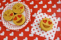 DIY emoji cookies (i.e. moon pies!) perfect for valentines! | A Joyful Riot