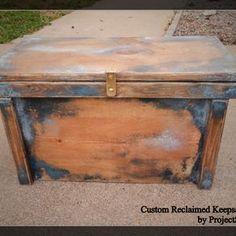 Reclaimed Wood Keepsake Box / Barnwood Box / Treasure Box by Royce &…