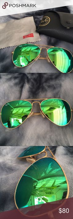 Ray Ban Mirrored Sunglasses Used with just a few scratches.  Not noticeable when wearing. Ray-Ban Accessories Sunglasses