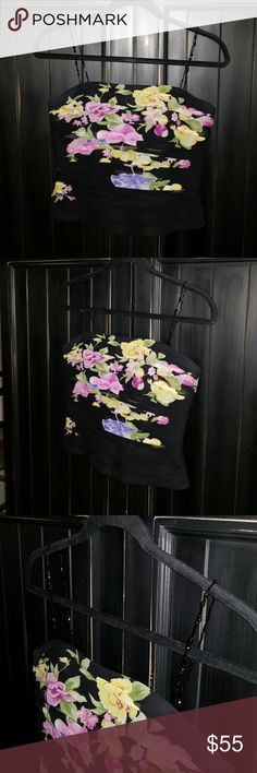 """Kay Unger New York  Bustier 100% Silk Kay Unger New York Silk Bustier Size 4   15 1/2"""" underarm-underarm  100% Silk Kay Unger Tops"""