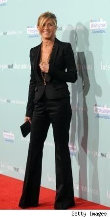 Jennifer Aniston.  I love this suit.  It's so well cut and pretty.