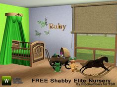 Shabby Elite Nursery by Riccinumbers http://www.thesimsresource.com/downloads/1200091