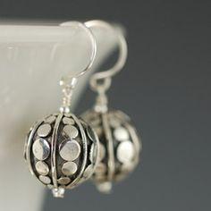 Fun sterling silver bali dot earrings :)