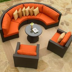 Patio furniture - Conversational and love the colour. Perfect by the fireplace!