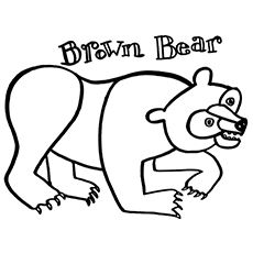 Brown Bear, Brown Bear, What do You See Coloring page