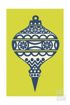Christmas Ornament by Pop Ink - CSA Images. Print from Art.com, $29.99